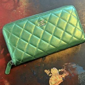 Chanel long zippy wallet